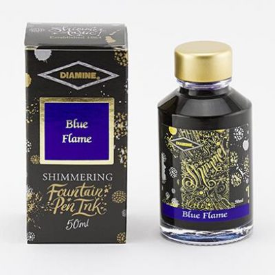 Diamine Blue Flame Shimmer ink