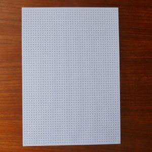 underlagsark med prikker